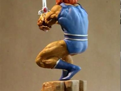 ThunderCatsLair.org - Lion-O statue turnaround by Hard Hero