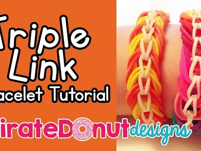 Triple Link Rainbow Loom Bracelet Tutorial