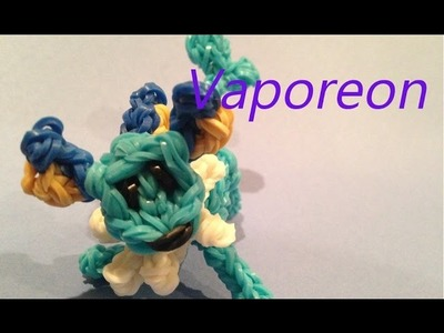 Vaporeon Pokemon - Rainbow Loom Charms