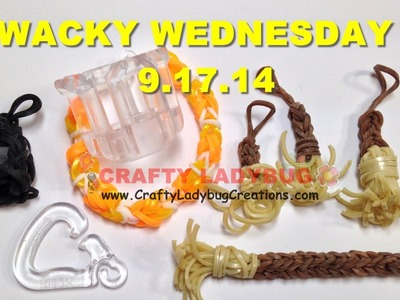 WACKY WEDNESDAY 9.17.14 FINGER LOOM REVIEW Tutorials.How to Make by Crafty Ladybug