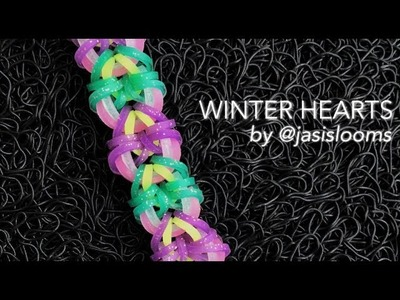 WINTER HEARTS Hook Only bracelet tutorial
