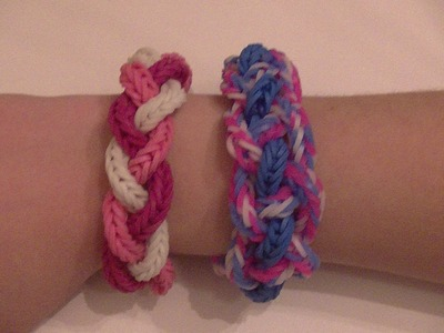 10 different bracelets you can make using fishtails! Part 2, The 3-strand and 4-strand braid