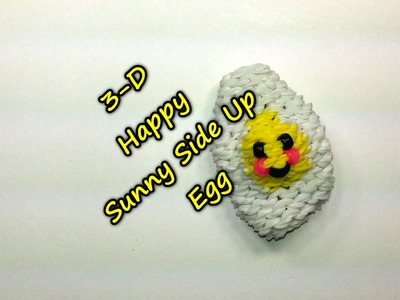 3-D Happy Sunny Side Up Egg Tutorial by feelinspiffy (Rainbow Loom)