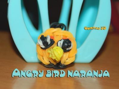 Angry bird naranja. Angry bird orange rainbow loom