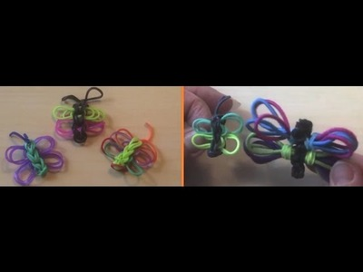 Butterfly Charm Tutorial Easy with Rainbow loom