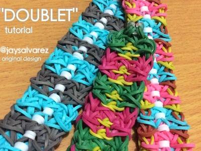 DOUBLET Rainbow Loom bracelet tutorial (Original Design)
