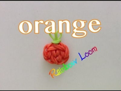 EASY Rainbow Loom Orange Charms