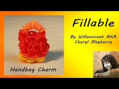 Fill-able Handbag Charm - Rainbow loom and Hook by Willowcreat