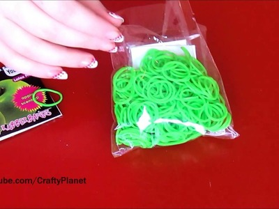 GREEN APPLE Scented Rainbow Loom Rubber Band Haul - Rubber Band Bracelets, Rings, Charms