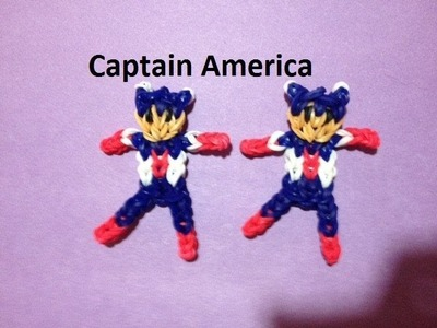 How to Make Captain America on the Rainbow Loom - Original Design