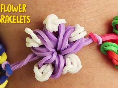 How to Make Rubber Band Bracelets Without Loom - Easy Flower Rainbow Loom Bracelet Designs