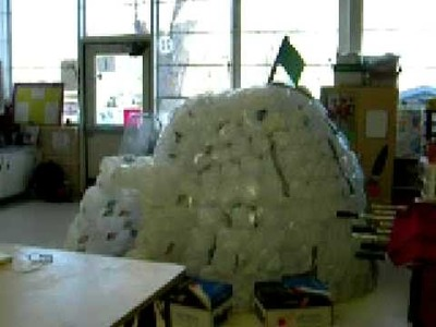 Igloo made out of Milk Jugs