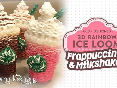 Large Frappuccino. Milkshakes: 3D Rainbow Ice Loom Series
