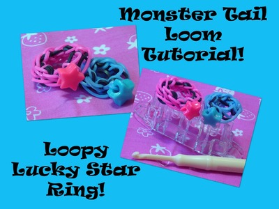 Monster Tail Loom Tutorial: Loopy Lucky Star Ring!!!! (Step-by-Step-Easy)