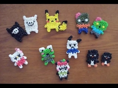 My Rainbow Loom Kawaii Characters Creations!
