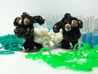 Oveja 3D con gomitas. Sheep Shaun 3D Rainbow loom. Sheep