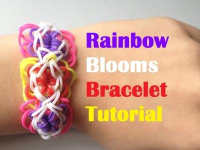 RAINBOW BLOOMS loom Bracelet Rainbow Loom l JasmineStarler