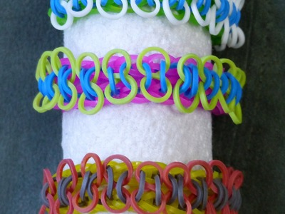 "Rainbow Loom Bracelet - ORIGINAL DESIGN - ""DOUBLE 8"" (ref # 2h)"