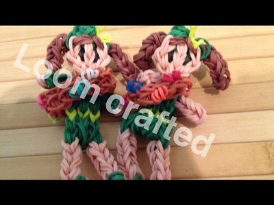 Rainbow loom Girl Scout figure (original design)