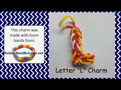 Rainbow Loom Letter L Loom Band Charm - Made Using RubberBandBracelet Loom Bands