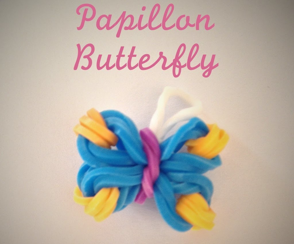 Rainbow Loom Papillon facile Butterfly (Easy tuto facile français)