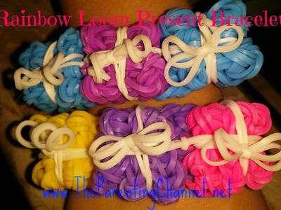 RAINBOW LOOM PRESENT BRACELET - HOW TO MAKE