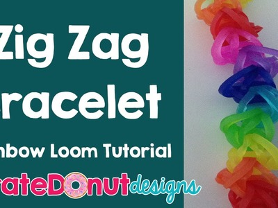 Zig Zag Rainbow Loom Bracelet Tutorial