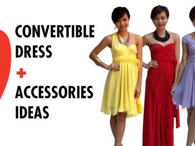 9 Ways to Wear Convertible Dress + Accessories Ideas