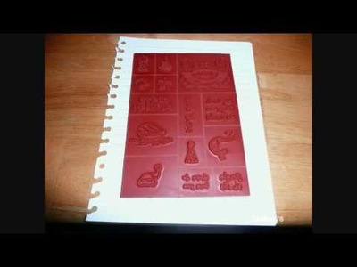 Aleene's Tack-It Over & Over glue on unmounted rubber stamps