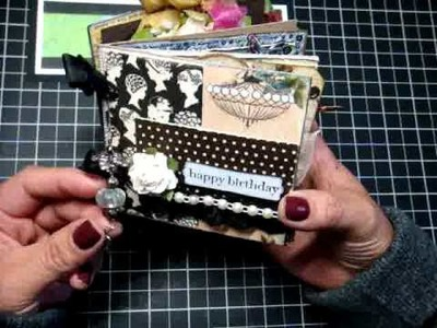 Birthday Mini Album for Tracey of Lindy Stamp Gang