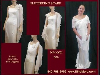 Creative ideas for brides: Fluttering Scarf from NinaMoro