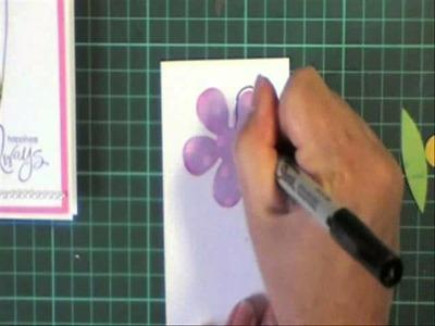 Doodle punch art flower
