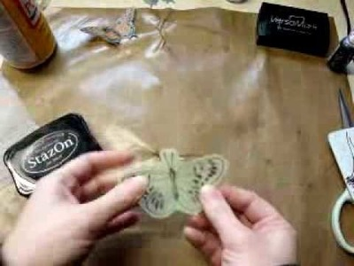 Dryer Sheet Butterflies Tutorial
