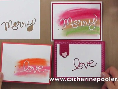 Faber-Castell Gelatos and Stampin' Up Thinlits with Catherine Pooler