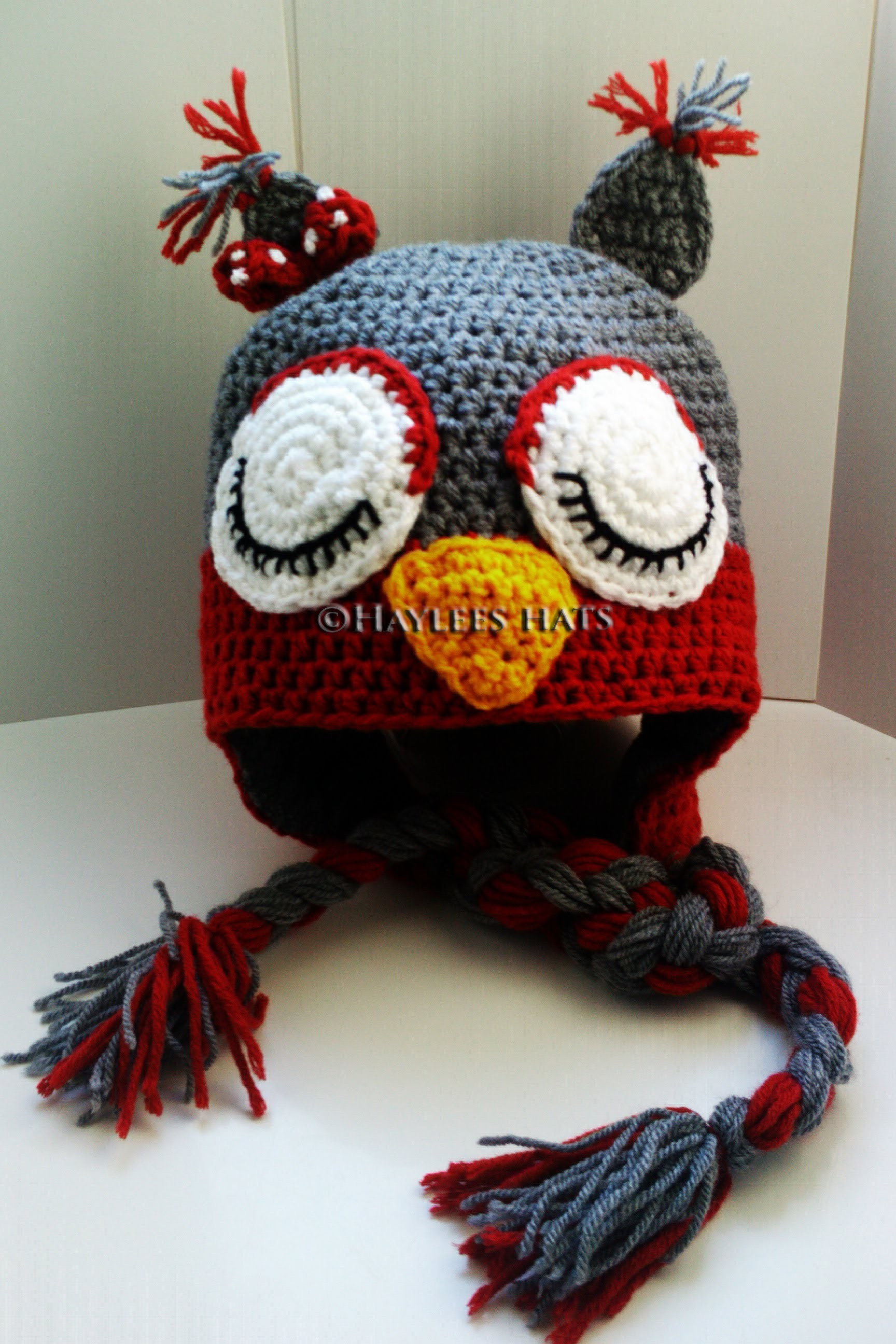 FRESH OFF THA HOOK| Haylees Hats| owl hat, lion hat, girls earflap hat, elf style hat