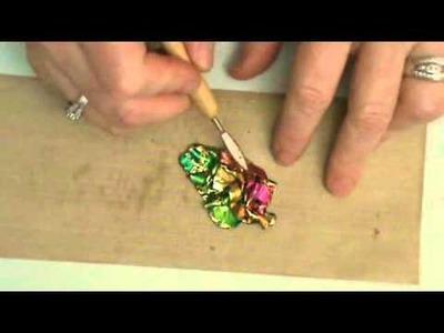 Friendly Plastic TV- Dimentional Pendants with Decorative Foils