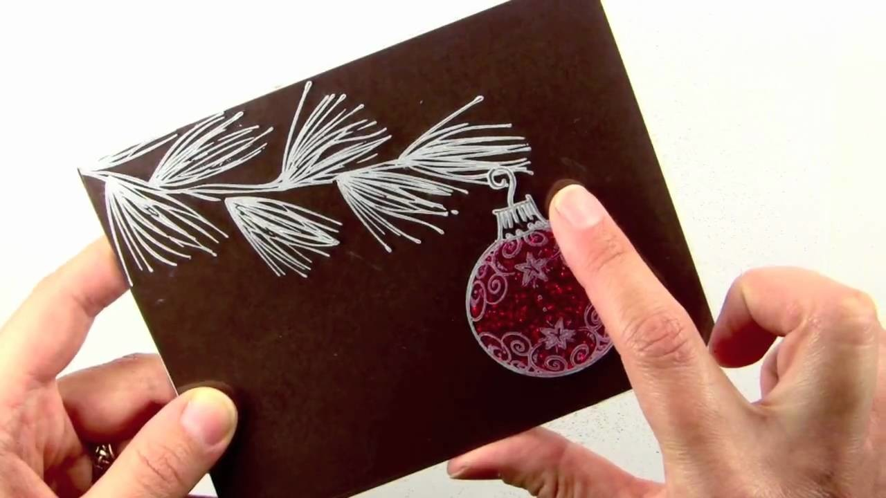 Glittery Acetate Ornament Card