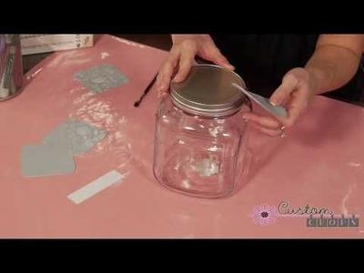 Guest Bath Soap Jar Part 3 - With Cricut Vinyl