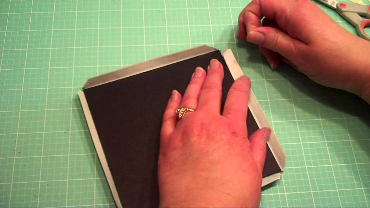 How to Cover Chipboard for Mini Albums