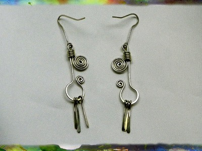 How to Create Wire Earrings with Dangling Flairs