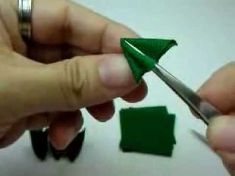 How to fold pointy tip Kanzashi petal