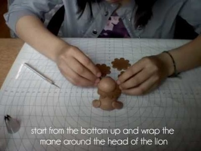 How To: Fondant Lion Figure