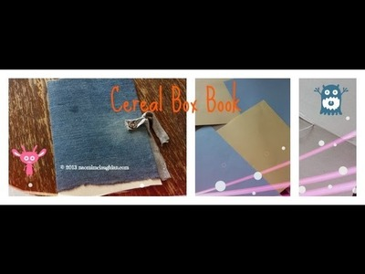 How to make a book from a Cereal Box