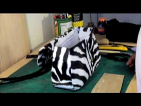 How to make a designer handbag-zebra. sewing your handbag 2