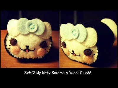 How To Make A Kawaii Kitty Sushi Plushie Tutorial