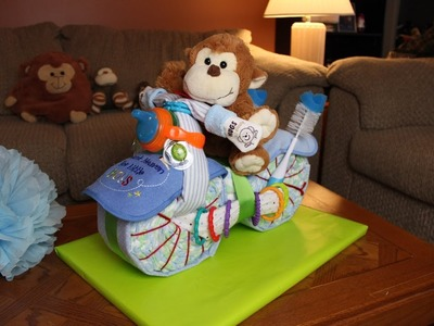 How to Make A Motorcycle Diaper Cake for Boys