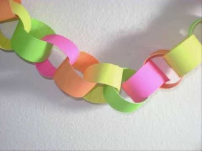 How to make decorative paper chains with construction paper - EP