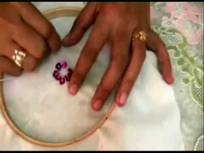 How to sew sequin flower