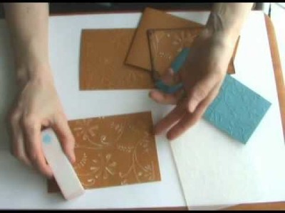 How to Use Cuttlebug Embossing Folders