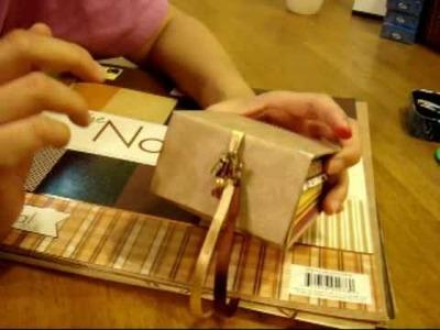 Mini Album Jewelry Box with binding technique